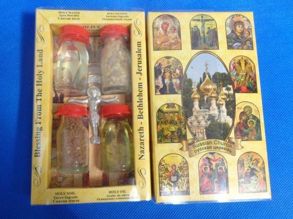 Набор оберегов из Назарета, Вифлеема и Иерусалима - малый